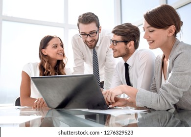 successful business team in the workplace in the office