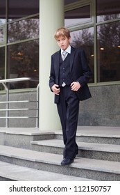Successful business teen in street setting
