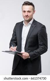 Successful businessman, finance concept, Work business, digital marketing, Teamwork