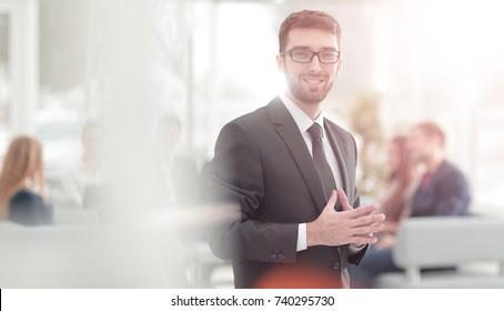 Successful businessman in a modern office