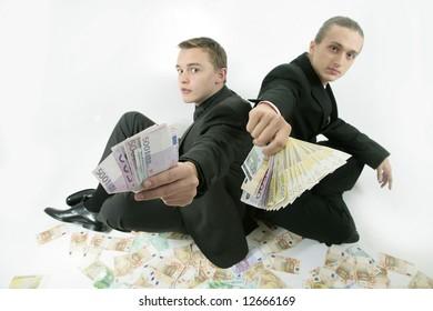 successful businessmen offer money