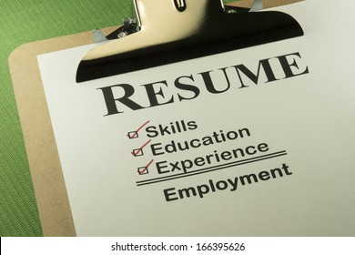 Successful Candidate Resume Requires Skills, Education And Experience To Find Employment