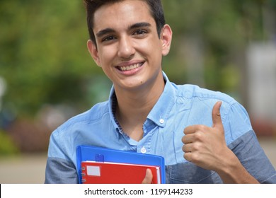 Successful Colombian Boy Student