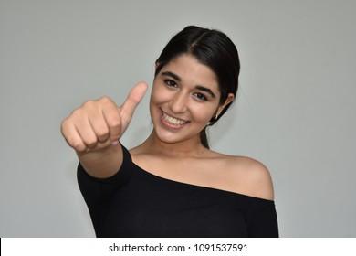 Successful Colombian Teen Girl