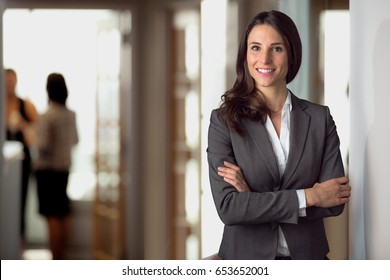 Successful confident portrait of a business woman, CEO, leader, boss, manager, company owner