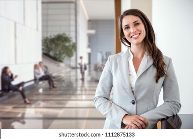 Successful female business corporate leader representative portrait at office workspace