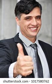 Successful Intelligent Business Man Wearing Business Suit