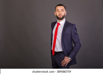A successful man in a business suit