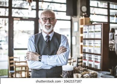 Successful Senior businessman. Portrait.