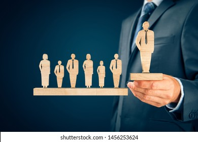 Successful team leader (manager, CEO, market leader) and another business leadership and motivation concepts.