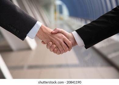 successful transaction. Hand shake.