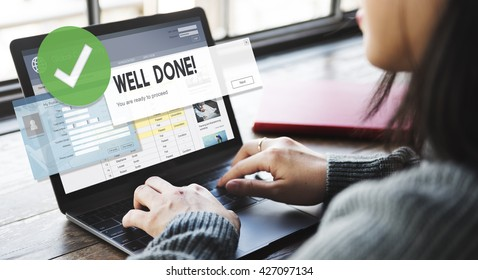 Successful Well Done Accomplishment Achievement Excellence Concept
