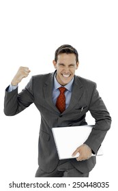 Successful young businessman - isolated