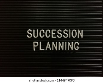 Succession Planning, written on letterboard