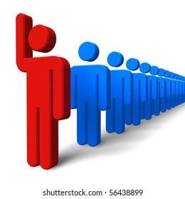 Success/leadership concept