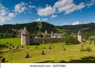 Sucevita Monastery in summer