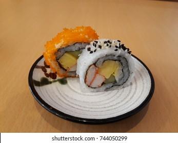 Suchi Japanese food on dish