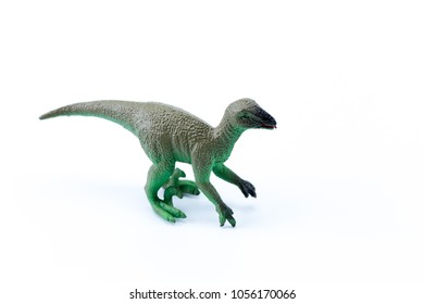 Suchomimus funny mini macro dinosaur isolated in white background