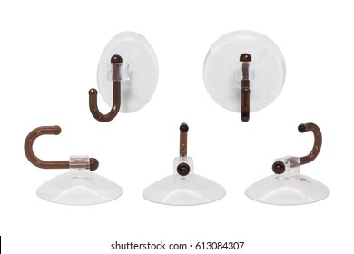 Suction cup on white background with clipping path. Hanging hook for montage or your design.