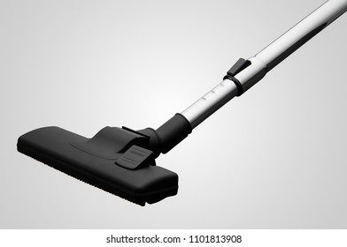 suction pipe with a nozzle from a vacuum cleaner on a white background. for copy space and cut out