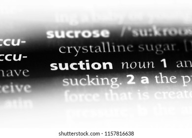 suction word in a dictionary. suction concept.