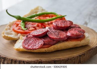 Sucuk Ekmek / Sausage in Bread