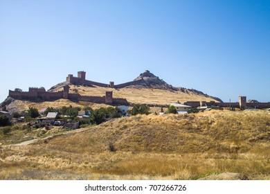 Sudak fortress in Crimea, Russia