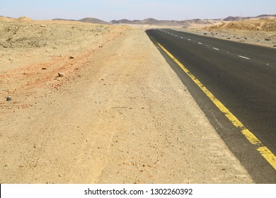 in sudan africa the street in the nubian desert concept of wild and adventure