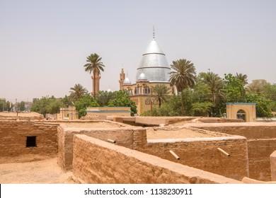 Sudan Khartoum old town city ancient village in capital city of Sudan Khartoum near Omdurman.