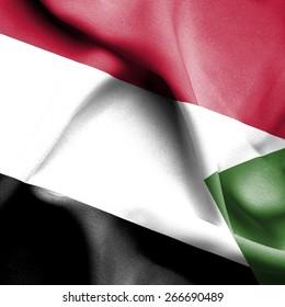 Sudan waving flag