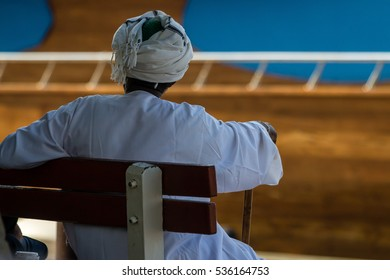 A sudanese old man relaxing