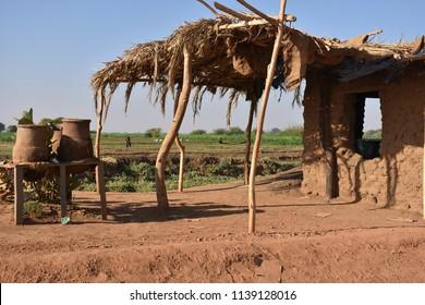 Sudanese village In Bayuda desert