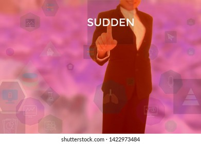 SUDDEN - business concept presented by businessman