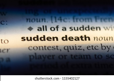 sudden death word in a dictionary. sudden death concept.