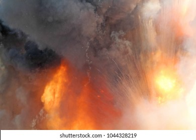 bomb blast images stock photos vectors shutterstock https www shutterstock com image photo sudden massive explosion bomb blast wave 1044328219