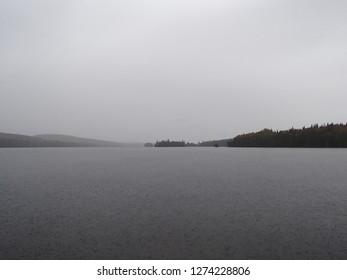 Sudden Rain on Lac Forbes (Tremblant National Park, Quebec)