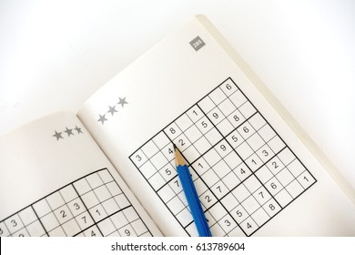 sudoku book isolated on white