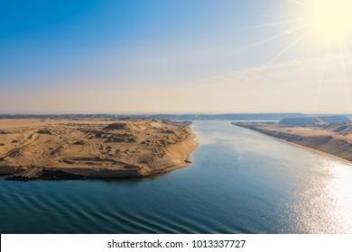 Suez Canal landscape