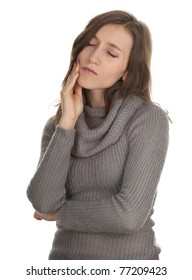 suffering from pain - young woman with toothache