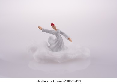 Sufi DerviÃ?? on a Cloud on a white background