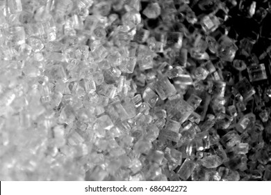 Sugar background / Sugar is the generic name for sweet, soluble carbohydrates, many of which are used in food