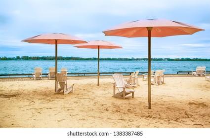 Sugar Beach in Toronto, Ontario, Canada