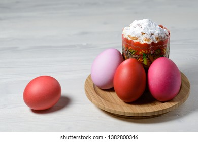 sugar cake and painted eggs