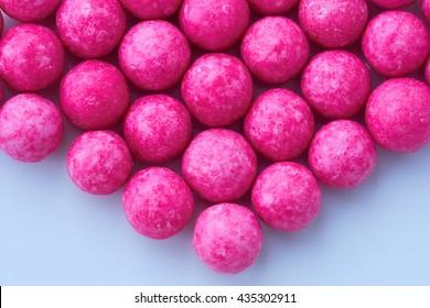 sugar candy pink balls