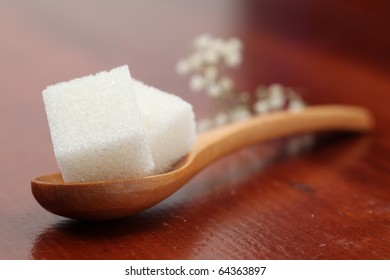Sugar collection - white cubes. Shallow dof