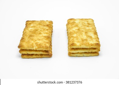 Sugar crackers biscuit on white background