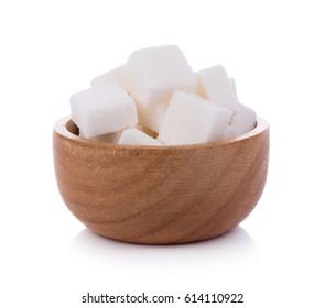 sugar cube on white background