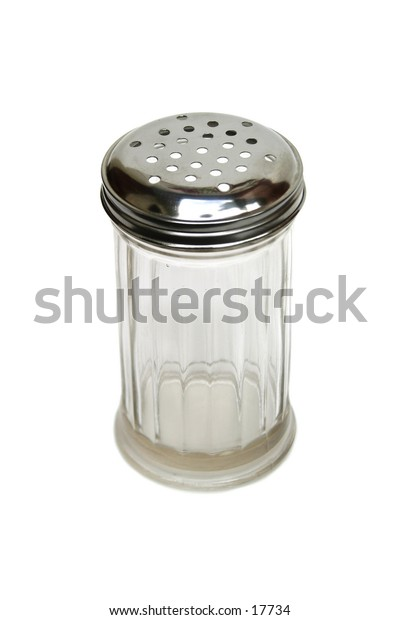 A sugar dispenser isolated on white with clipping path.