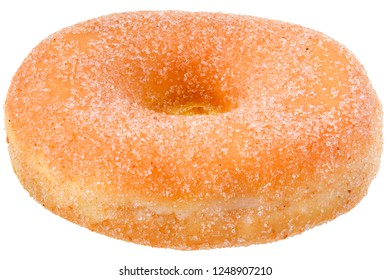 Sugar donut isolated on white background.