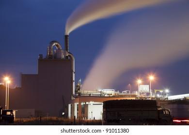 Sugar Factory in Turkey, night shoot.
